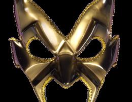Gold Devil Man Mask 1