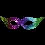 Rainbow Venetian Mask 2