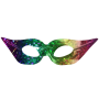 Rainbow Venetian Mask 3