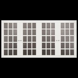 FrenchPorte 96-in x 84-in Jennifer Series White Garage Door Windows_1