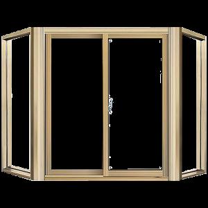 JELD-WEN 6-ft 10-12-in x 2-ft 3-12-in V2500 Series Double-Hung Vinyl Double Pane New Construction Bay Window_3