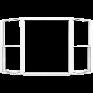 JELD-WEN 6-ft 10-12-in x 6-ft 3-12-in V2500 Series Double-Hung Vinyl Double Pane New Construction Bay Window