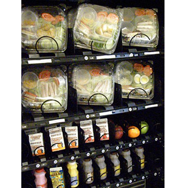 healthy food in vending machines at school