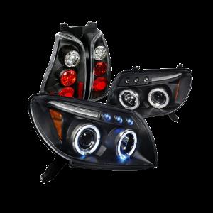Toyota 4Runner Black Halo Projector Headlights, Altezza Tail Lights _1