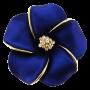 Blue Hawaiian Plumeria Flower Pin Swarovski Crystal Pin Brooch And Penda_1