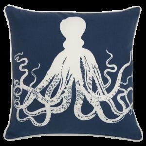 Thomaspaul - Octopus Denim Outdoor Pillow 1