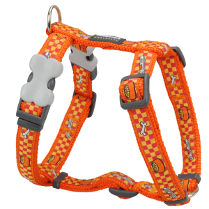 Dog Harness Dog Bowl Orange 1
