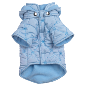 The Quilted Pastel Blue Coat 1