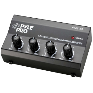 Pyle-Pro PHA40 4-Channel Stereo Headphone Amplifier_1