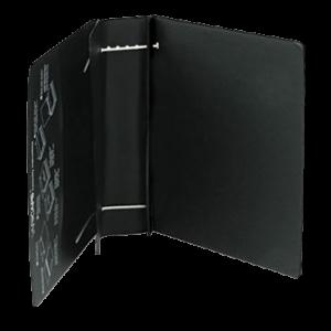 D-Ring Vinyl View Binder, 4in Capacity, Black 2 copy