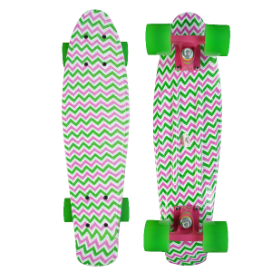 Holidays New design Water Printing 22inch Old School longboard skate board cruiser Penny replica 1