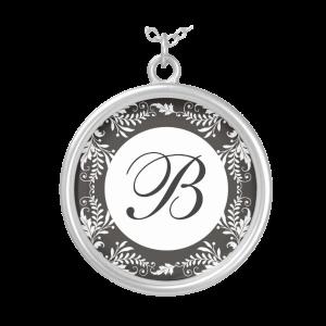 Monogram Letter B Pendant Necklace 1