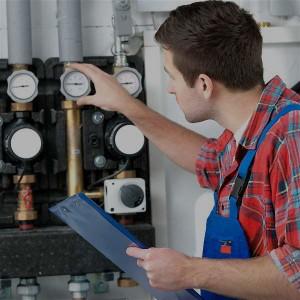 Technician servicing...