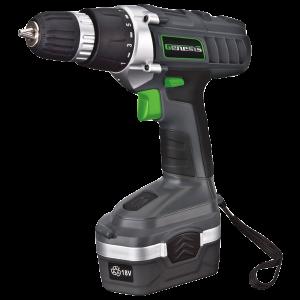 Genesis GCD18BK 18v Cordless Drill Driver Kit, Grey_1