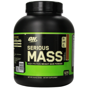 Optimum Nutrition Serious Mass Diet Supplement Chocolate Peanut Butter 6 Pound 1