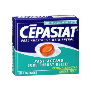 Cepastat Sugar Free Oral Anesthetic Lozenges with Phenol, Menthol Eucalyptus Flavor_1