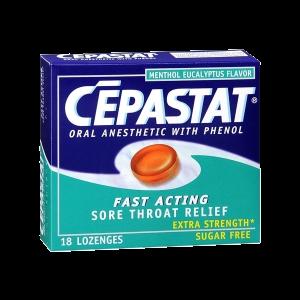Cepastat Sugar Free Oral Anesthetic Lozenges with Phenol, Menthol Eucalyptus Flavor_1