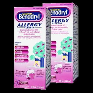 Children's Benadryl Allergy, Liquid, Cherry_1