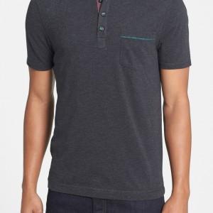 'Bing' Trim Fit Cotton Jersey Polo_03