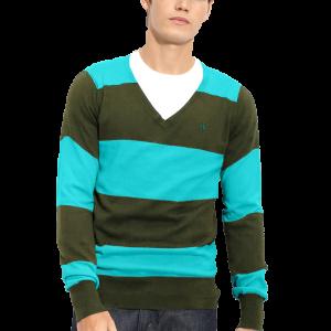 Hurley 'Quad' Stripe V-Neck Sweater 3 copy