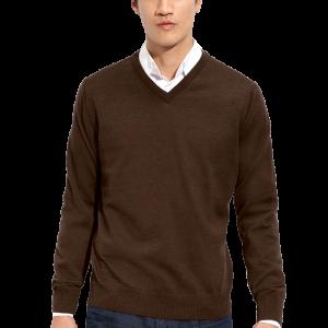 Thomas Dean Merino Wool V-Neck Sweater 2 copy