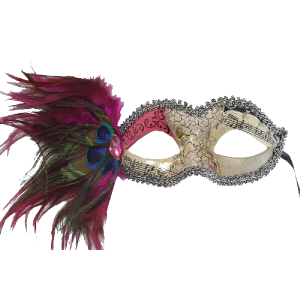 RedSkyTrader-Womens-Aged-Finish-Mask--Peacock-Feathers-1
