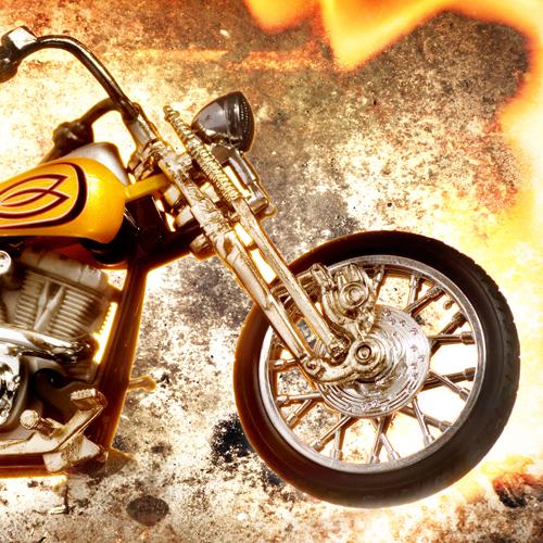 Bike on fire
