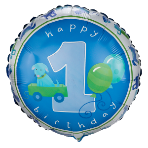 Boy's Little 1 Birthday Foil Balloon 1 copy
