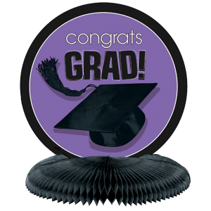 Congrats Grad Purple GraduationCenterpiece 1 copy