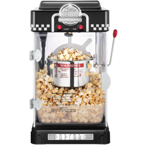 Great Northern Popcorn 2-1-2-Ounce Black Tabletop Retro Style Compact Popcorn Popper Machine with Removable Tray 1