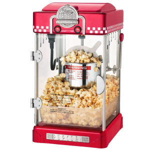 Great Northern Popcorn 2-1-2-Ounce Red Tabletop Retro Style Compact Popcorn Popper Machine with Removable Tray 3