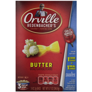 Orville Redenbacher's Pop-Up Bowl Butter Microwave Popcorn 1