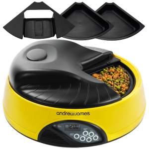 Andrew-James-4-Day---Meal-Automatic-Pet-Feeder---Bowl-with-voice-recorder-Includes-2-Volume-Reducers-+-1-Adapter-Tray_1