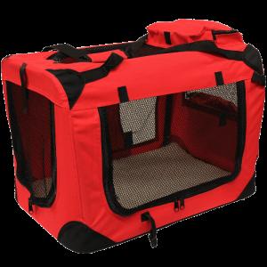 Mool-Lightweight-Fabric-Pet-Carrier-Crate-with-Fleece-Mat-and-Food-Bag,-Medium,-60-x-42-x-42-cm,-Red_1