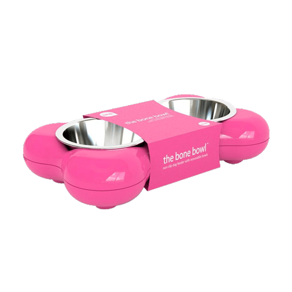 Hing-Designs-The-Bone-Bowl-with-Non-Slip-Rubber-Feet-and-Dishwasher-Safe-Removable-Stainless-Steel-Bowls,-Pink_1