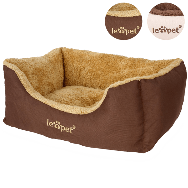 Leopet-HTBT03-Dog-Bed-DIFFERENT-SIZES-and-COLOURS-(Brown,-S)_1