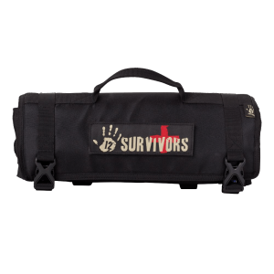 12 Survivors First Aid Rollup Kit Black 1
