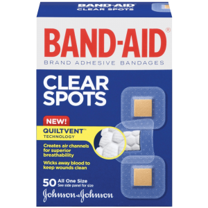 Band-Aid Brand Adhesive Bandages Clear Spots 50 Count 1