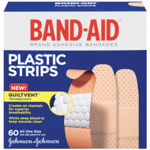 Band-Aid Brand Adhesive Bandages Plastic Strips Assorted 60 Count 1