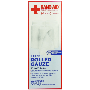 Band-Aid First Aid Covers Kling Large Rolled Gauze 5 Count 3