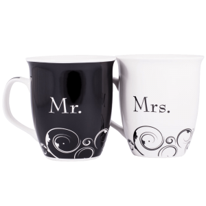 Mr. and Mrs. Christian Coffee Mug Set 1
