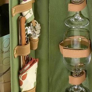 Bacchus Insulated Single Bottle Wine Basket 3