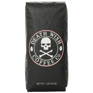 Death Wish Coffee The World's Strongest Coffee Fair Trade Organic Whole Bean 16 Ounce Bag 1