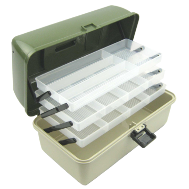 Ace Angling 3 Tray Cantilever Fishing Tackle Tough Box