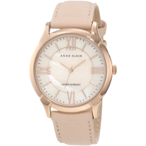 Anne Klein Women's AK-1010RGLP Rose Gold-Tone Watch with Swarovski Crystals and Leather Band 1