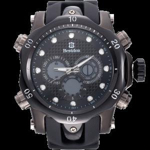 Bestdon Swiss Men's Sports Watches Quartz Analog Six Hands Black 1