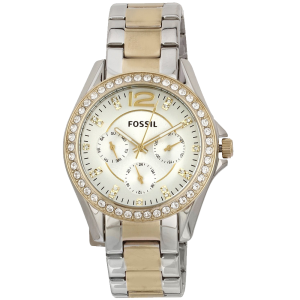 Fossil Women's ES3204 Riley Silver and Gold Tone Watch 1