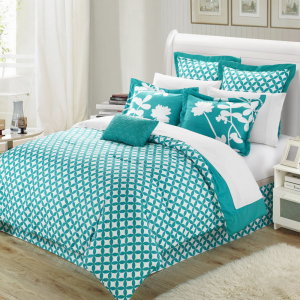Chic-Home-Iris-7-Piece-Comforter-Set-with-Four-Shams-and-Decorative-Pillow,-Queen-Size,-Turquoise,-Bedskirt_04