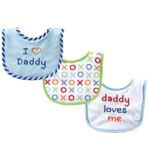 Luvable-Friends-I-Love-Mommy-and-Daddy-Baby-Bibs,-Blue-Daddy,-3-Count_5