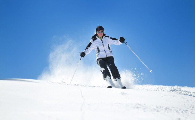 Winer woman ski